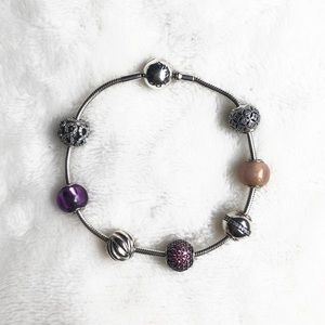 Authentic PANDORA Essence Bracelet with 4 Charms